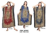 24 Units of Wholesale Long Kaftan Assorted Colors - Womens Skirts