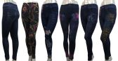 24 Units of Denim Print Leggings in Assorted Patterns - Womens Leggings