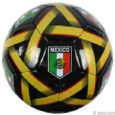10 Units of Official Size Black Mexican Soccer Balls - Balls