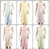 24 Units of Wholesale Women Pajama Night Gown Small Flower Print Assorted - Womens Leggings