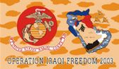 "96 Units of 3' x 5' polyester ""Iraqi Freedom"" Marines flag, with grommets. - Flags"