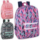 "24 Units of 18 Inch Graphic Backpack With Double Front Pocket - Assorted Girl Colors - Backpacks 18"" or Larger"