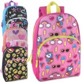 "24 Units of Character Backpacks - 15 Inch Girls Colors - Backpacks 15"" or Less"
