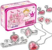 12 Units of Princess in a Tin Dress Up Kit- 7 Piece - Toys & Games