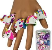 120 Units of Silicone Unicorn Rings - Rings