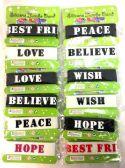 24 Units of Wholesale Rubber Band Bracelet Best Friend/ Hope/ Wish - Bracelets