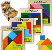 12 Units of Wood Tangram Puzzles - Crosswords, Dictionaries, Puzzle books