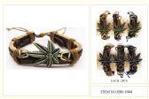 60 Units of Wholesale Marijuana style Leather bracelet - Bracelets
