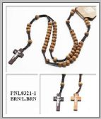 60 Units of Wood Rosary/ Necklace - Necklace