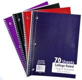 60 Units of 1-Subject College Ruled School Notebooks - 70 Pages - Notebooks