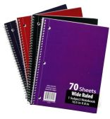 60 Units of 1-Subject Wide Ruled School Notebooks - 70 Pages - Notebooks