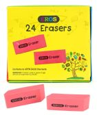 240 Units of Pink Bevel Rubber Erasers - Erasers