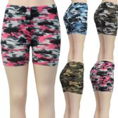 36 Units of Women's Stretchy Shorts - Camouflage Printsts - Womens Shorts