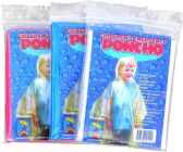 48 Units of Children's Emergency Ponchos - Assorted Colors - Umbrellas & Rain Gear