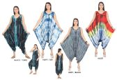 48 Units of Women's Tie Dye Harem Jumpsuits - Assorted Colors - Size Small-XL - Womens Rompers & Outfit Sets