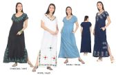 48 Units of Women's Maxi Dresses with Accent Stitching - Assorted Colors - Size Small-XL - Womens Sundresses & Fashion