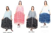 48 Units of Women's Tie Dye Rayon Maxi Dresses - Assorted Colors - One Size Fits Most - Womens Sundresses & Fashion