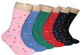 360 Units of Women's Novelty Crew Socks - Circle Print - Size 9-11 - Womens Crew Sock