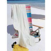 60 Units of Beach Towels - White - Beach Towels