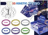 24 Units of 3D Kinetic Flow Rings - Assorted Colors - Rings