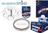 24 Units of 3D Kinetic Flow Rings - Silver - Rings