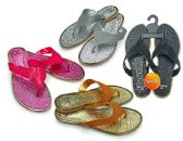 48 Units of Women's Thong Sandals with Cascading Straps - Assorted Colors - Women's Flip Flops