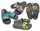 48 Units of Women's Slide Sandals with/ Paint Print Straps - Womens Sandals