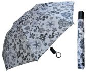 "12 Units of 42"" Auto-Open Deluxe Umbrellas in Assorted Prints - Umbrellas & Rain Gear"