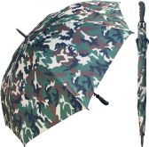 "12 Units of 60"" Auto-Open Camoflauge Print Umbrellas with Rubber Handle - Umbrella"