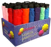 "24 Units of 42"" Manual Assorted Mini Umbrellas in Display - Umbrella"