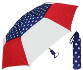 "6 Units of 44"" Auto-Open/Close USA American Flag Print WindBuster Super Mini Umbrellas - Umbrella"