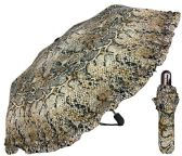 "6 Units of 44"" Auto-Open/Close Snake Print Super Mini Umbrellas with/ Ruffle - Umbrella"