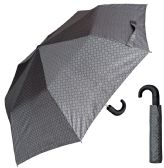 "12 Units of 44"" Auto-Open Mini Umbrellas with/ Hook Handle - Assorted Grey Prints - Umbrella"