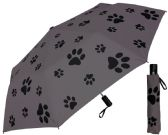 "6 Units of 44"" Auto-Open/Close Puppy Dog Paw Print Deluxe Super Mini Umbrellas - Umbrella"