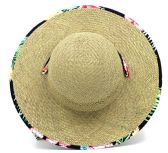 24 Units of Women's Straw Sun Hats with/ Accent Band - One Size Fits Most - Sun Hats