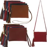 36 Units of Faux Leather Crossbody Bags with/ Tassel Adornment - Shoulder Bags & Messenger Bags