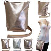 "36 Units of 10"" Metallic Crossbody Bags - Assorted Colors - Shoulder Bag/ Side Bag"