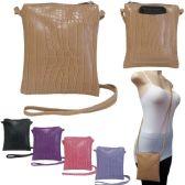 36 Units of Crossbody Bags with/ Rear Phone Pocket - Crocodile Prints - Shoulder Bag/ Side Bag