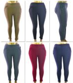 72 Units of Women's Plus Size Pull-On Pants w/ Front & Back Pockets - Assorted Colors - Sizes 1X-3X - Womens Leggings