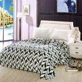 12 Units of Arrow Micro Plush Blankets - Twin Size Black Only - Micro Plush Blankets