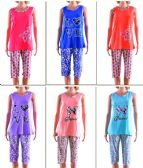 72 Units of Women's Pajama Set - Assorted Prints - Sizes Medium-XXL - Ladies Lingerie / Sleep Wear