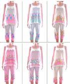 72 Units of Women's Tank Top & Capri Pajama Set - Assorted Prints - Sizes Small-XL - Ladies Lingerie / Sleep Wear