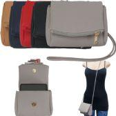 36 Units of Fold Over Crossbody Bags with/ Detachable Straps - Shoulder Bag/ Side Bag
