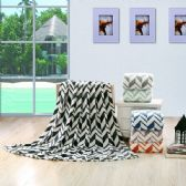 12 Units of Arrow Microplush Blankets Light. green, black, navy, orange gray, beige - Micro Plush Blankets