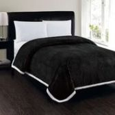 4 Units of Corduroy Sherpa Blanket In Black Queen Size - Fleece & Sherpa Blankets