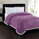 4 Units of Corduroy Sherpa Blanket In Mauve Queen Size - Fleece & Sherpa Blankets