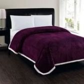 4 Units of Corduroy Sherpa Blanket In Purple Queen Size - Fleece & Sherpa Blankets