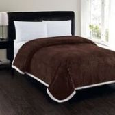 4 Units of Corduroy Sherpa Blanket In Chocolate King Size - Fleece & Sherpa Blankets
