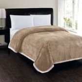 4 Units of Corduroy Sherpa Blanket In Taupe King Size - Fleece & Sherpa Blankets