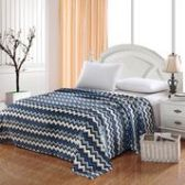 12 Units of Camesa Blankets Throw Size In Navy Zig Zag - Fleece Baby/Lap Blankets